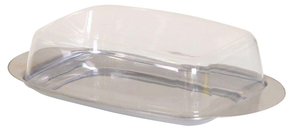Масленка Top Star. 225011225011Масленка Top Star из нержавеющей стали с крышкой из прозрачного пластика прямоугольной формы. Размер 19 х 11 х 5 см.