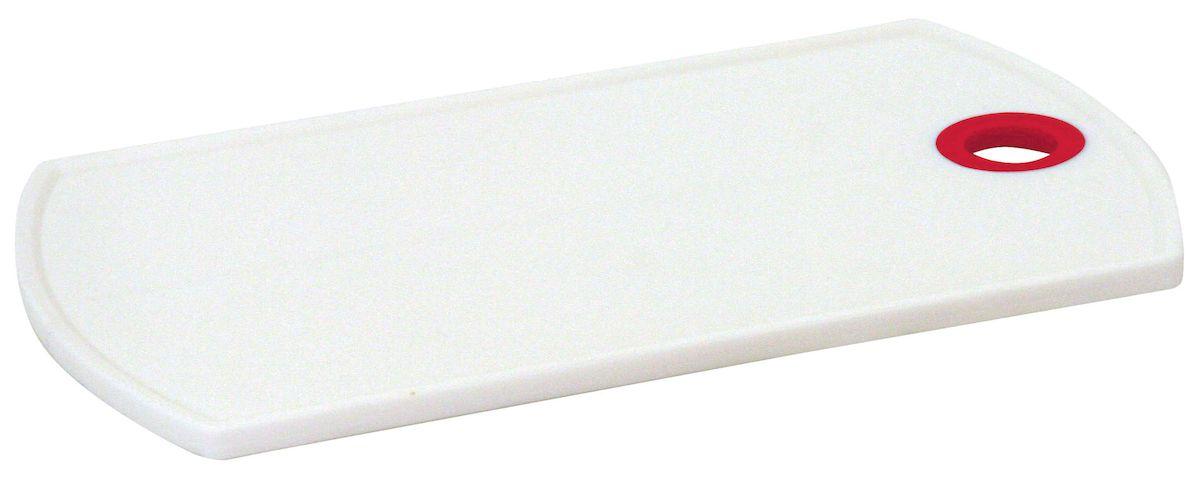 Доска разделочная Axentia, цвет: белый, красный, 26 х 15 см260550Разделочная доска Axentia выполнена из пластика и оснащена отверстием для подвешивания. Прочная структура пластика устойчива к механическим повреждениям. Легко моется, не впитывает запахи. Такая доска понравится любой хозяйке и будет отличным помощником на кухне. Можно мыть в посудомоечной машине.