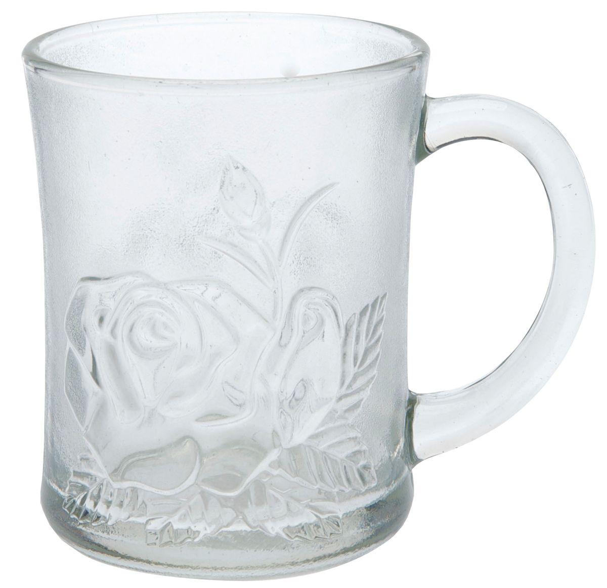Кружка Axentia Роза, 250 мл115610Кружка Axentia Роза изготовлена из прочного матового стекла и декорирована рельефным изображением розы. Такая кружка прекрасно подойдет для горячих и холодных напитков. Она дополнит коллекцию вашей кухонной посуды и будет служить долгие годы.