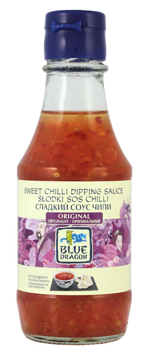 Blue Dragon Сладкий cоус чили оригинальный, 190 мл0120710В качестве дип-соуса незаменим для: спринг-роллов, снеков. Восхитителен с лососем (завернуть в фольгу и запекать в духовке).