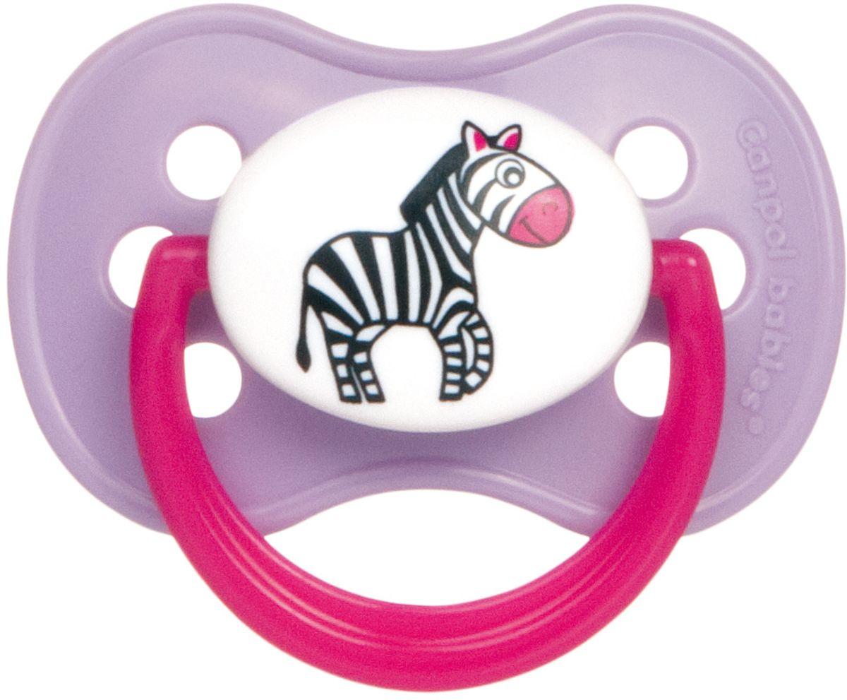 Canpol Babies Пустышка латексная Animals от 0 до 6 месяцев цвет розовый
