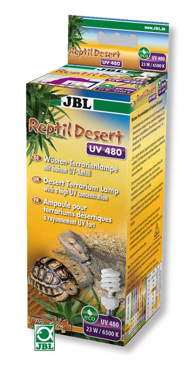 Энергосберегающая лампа JBL ReptilDesert UV 300 с высоким уровнем ультрафиолета в областях UV-A и UV-B для пустынных террариумов, 15 ВтJBL6185100JBLReptilDesert UV 300 - Энергосберегающая лампа с высоким уровнем ультрафиолета в областях UV-A и UV-B для пустынных террариумов, 15 ватт