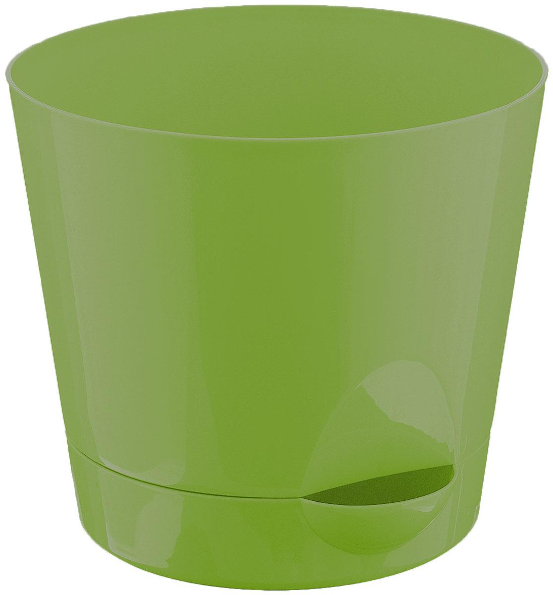 """Idea (М-пластика) Кашпо Idea """"Ника"""", с прикорневым поливом, с поддоном, цвет: ярко-зеленый, 2,7 л М 3073"""
