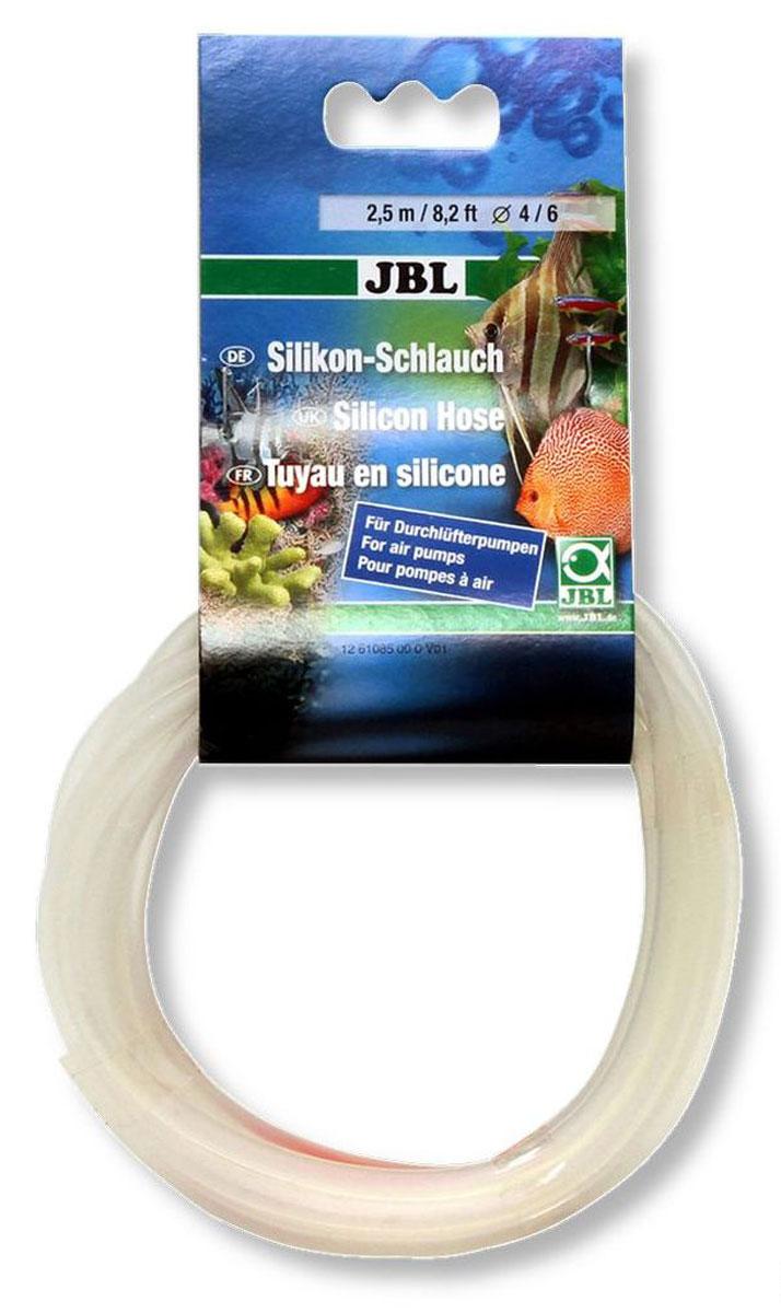 Шланг силиконовый для компрессора JBL Silikonschlauch, диаметр 4/6 мм, длина 2,5 м0120710Гибкий силиконовый шланг JBL Silikonschlauch диаметром 4/6 мм предназначен для работы компрессора. Не содержит тяжелых металлов. Не подходит для CO2. Длина: 2,5 м. Диаметр: 4/6 мм.