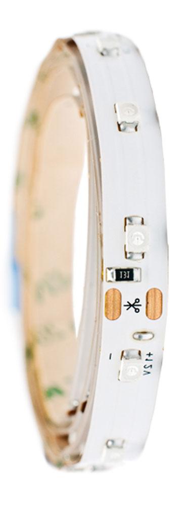 Лента светодиодная Главдор, цвет: белый, 900 ммS03301004Гибкая светодиодная лента для декоративной подсветки фиксируется с помощью двухстороннего скотча. Питание: 12В. Длина: 900 мм. Белый источник света.