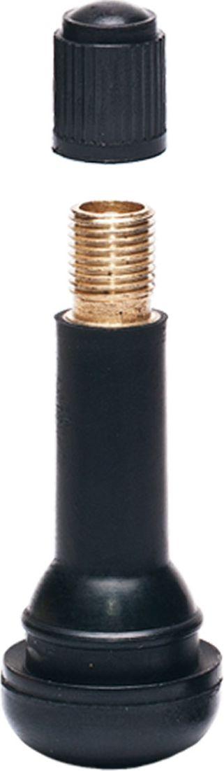 Вентиль для бескамерных шин Главдор, 14, цвет: черный, 4 штGL-59Эластичная структура вентилей, изготовленных из резины, обеспечивает полную герметизацию и беспрепятственную подачу воздуха в момент накачки колеса и проверки давления даже при сильном изгибе вентиля. В комплекте 4 шт.