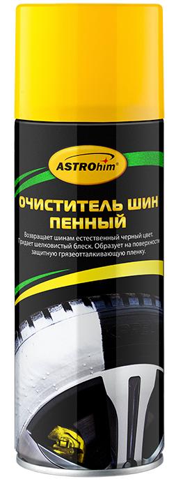 Очиститель шин ASTROhim, пенный, 520 млАС-2665Очиститель шин ASTROhim возвращает шинам первоначальный черный цвет за одно применение. Высокоэффективный пенный состав проникает в микротрещины покрышки, эффективно удаляя въевшиеся загрязнения из структуры и микротрещин покрышки. Очиститель придает шинам благородный шелковистый блеск и ухоженный внешний вид. Образует на поверхности долговременную защитную грязеотталкивающую пленку, препятствующую разрушению шин от агрессивного действия ультрафиолетовых лучей и дорожных реагентов. Прост и удобен в применении, поскольку легко наносится, не требует использования воды и щетки. Является отличным средством для подготовки шин к сезонному хранению, для регулярного ухода за шинами, а также при предпродажной подготовке автомобиля. Может также использоваться для ухода за мотоциклетными и резиновыми шинами, а также для ухода за пластиковыми и резиновыми элементами отделки (молдингами, решетками радиаторов, неокрашенными бамперами и кожухами наружных зеркал, резиновыми...
