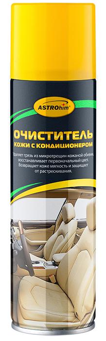 Очиститель кожи ASTROhim, с кондиционером, 335 млАС-8553Очиститель кожи ASTROhim эффективно очищает загрязнения, в том числе из микротрещин кожаной обивки, значительно обновляя ее внешний вид. Содержит специальные поверхностно-активные вещества, которые позволяют удалять даже старые загрязнения, не повреждая при этом естественную структуру кожи. Возвращает кожаной обивке мягкость и эластичность, защищает от сухости, растрескивания и выгорания за счет содержания в составе кондиционирующих добавок. Придает обивке ухоженный внешний вид и шелковистый блеск. Образует на поверхности защитный барьерный слой, благодаря которому поверхность приобретает грязеотталкивающие свойства и меньше загрязняется. Быстро впитывается и не оставляет жирных следов, на сиденья можно садиться практически сразу после очистки, не боясь того, что испачкается одежда. Может использоваться для очистки мотоциклетного снаряжения, а также в бытовых целях, например, для ухода за кожаной мебелью, аксессуарами и одеждой. Подходит для поверхностей из...