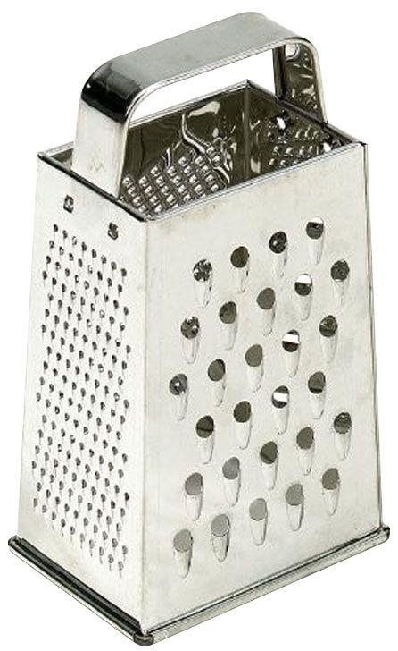 Терка Axentia, высота 21 см200925Четырехгранная терка Axentia, выполненная из высококачественной нержавеющей стали с зеркальной полировкой, станет незаменимым атрибутом приготовления пищи. Терка оснащена удобной ручкой. На одном изделии представлены четыре вида терок. Современный стильный дизайн позволит терке занять достойное место на вашей кухне. Высота терки: 21 см.