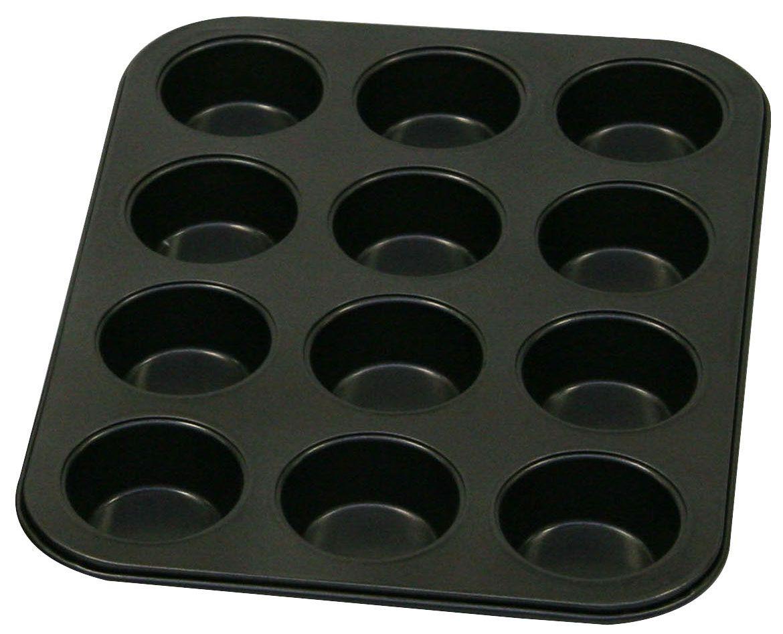 Форма для выпечки кексов Axentia, с антипригарным покрытием, 12 ячеек253802Форма для выпечки Axentia изготовлена из стали с антипригарным покрытием. Такая форма найдет свое применение для выпечки большинства кулинарных шедевров. Форма равномерно и быстро прогревается, выпечка пропекается равномерно. Благодаря антипригарному покрытию, готовый продукт легко вынимается, а чистка формы не составит большого труда. Какое бы блюдо вы не приготовили, результат будет превосходным! Форма подходит для использования в духовке. Перед каждым использованием форму необходимо смазать небольшим количеством масла. Чтобы избежать повреждений антипригарного покрытия, не используйте металлические или острые кухонные принадлежности. Размер формы: 34,5 х 26,5 х 2,5 см. Диаметр ячейки: 6,3 см. Количество ячеек: 12 шт.