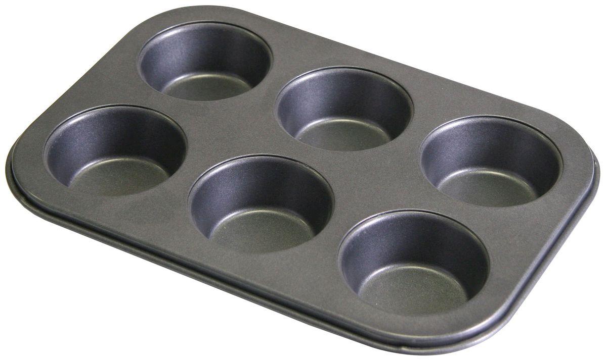 Форма для выпечки кексов Axentia, 6 ячеек. 253803253803Форма для запекания кексов Axentia, 6 ячеек, сталь с антипригарным покрытием, размер 26,5 х 18 х 3 см.