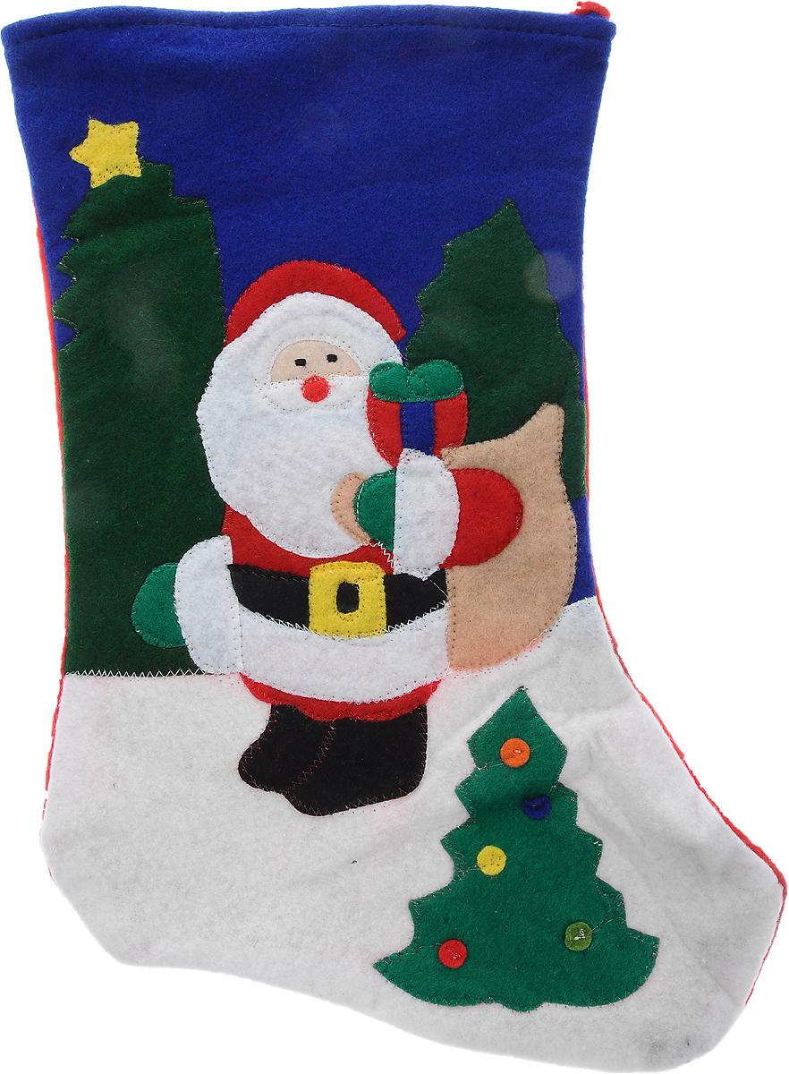 Мешок для подарков Winter Wings Носок. Дед Мороз, цвет: красный, синий, белый, 40 х 26 х 1 смA6483LM-6WHМешок для подарков Winter Wings Носок. Дед Мороз выполнен из полиэстера в виде носка с изображением Деда Мороза. В мешочек можно спрятать подарки. С помощью специальной петельки украшение можно повесить в любом понравившемся вам месте. Новогодние украшения несут в себе волшебство и красоту праздника. Они помогут вам украсить дом к предстоящим праздникам и оживить интерьер по вашему вкусу. Создайте в доме атмосферу тепла, веселья и радости, украшая его всей семьей.