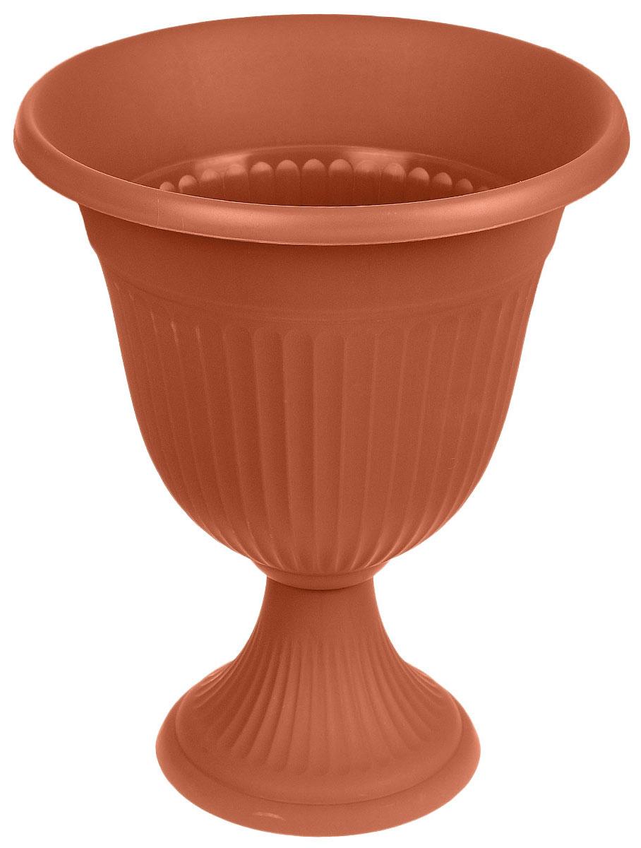 Вазон Idea Ливия, цвет: терракотовый, высота 38 смZ-0307Вазон Idea Ливия изготовлен из высококачественного полипропилена (пластика). Верхняя часть съемная. Благодаря устойчивому широкому основанию вазон не упадет. Такой вазон прекрасно подойдет для выращивания растений и цветов в домашних условиях. Классический дизайн впишется в любой интерьер. Диаметр (по верхнему краю): 29,5 см.Высота: 38 см.Диаметр основания: 20,5 см.