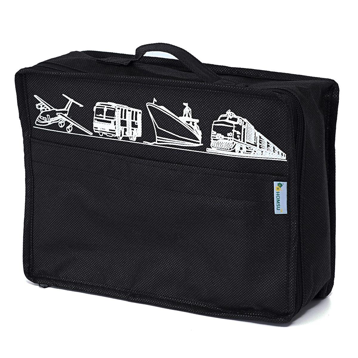 Сумка для багажа Homsu Men in Black, 28 х 20 х 9 смHOM-653Вместе с оригинальным современным дизайном такая сумка для багажа принесёт также очень существенную практическую пользу в любом путешествии. Благодаря ей,вы сможете распределить все вещи, которые возьмёте с собой таким образом, что всегда иметь быстрый доступ к ним, и при этом надёжно защитить от пыли, грязи, влажности или механических повреждений. Размер изделия:28x20x9см.