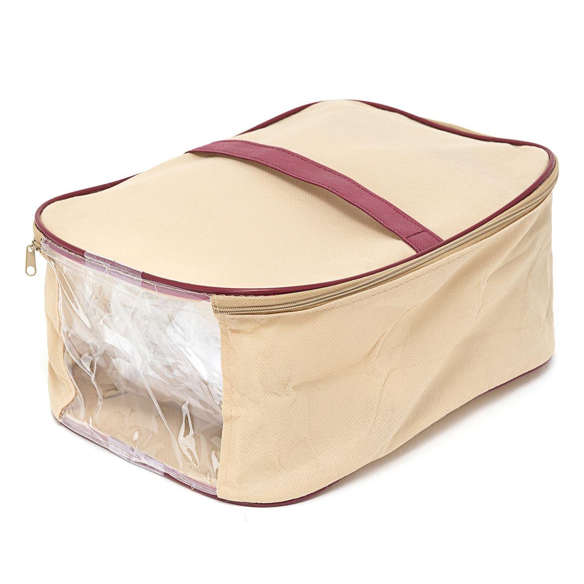 Сумка для обуви Homsu Comfort, цвет: бежевый, 36 x 16 x 23 смHOM-684Удобная сумка для хранения и перевозки обуви. В сумке сделано удобное окошко, через которое всегда можно увидеть, что находится внутри. Размер изделия: 36 x 16 x 23 см