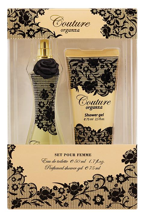 Apple Parfums Подарочный набор Couture Organza женский: туалетная вода, 50 мл, гель для душа 75мл15032029Подарочный набор для женщин : туалетная вода 50мл, парфюмированный гель для душа 75мл.Аромат: Ориентальный.