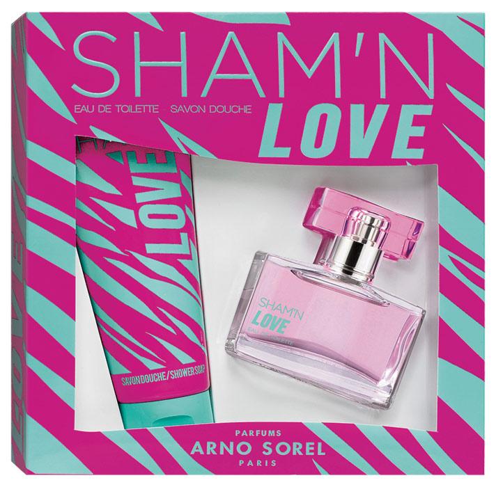 Corania Подарочный набор Sham'n Love женский: Туалетная вода, 50мл, гель для душа 100мл42456Подарочный набор для женщин : туалетная вода 50мл, парфюмированный гель для душа 100 мл. Аромат: Фруктовый.