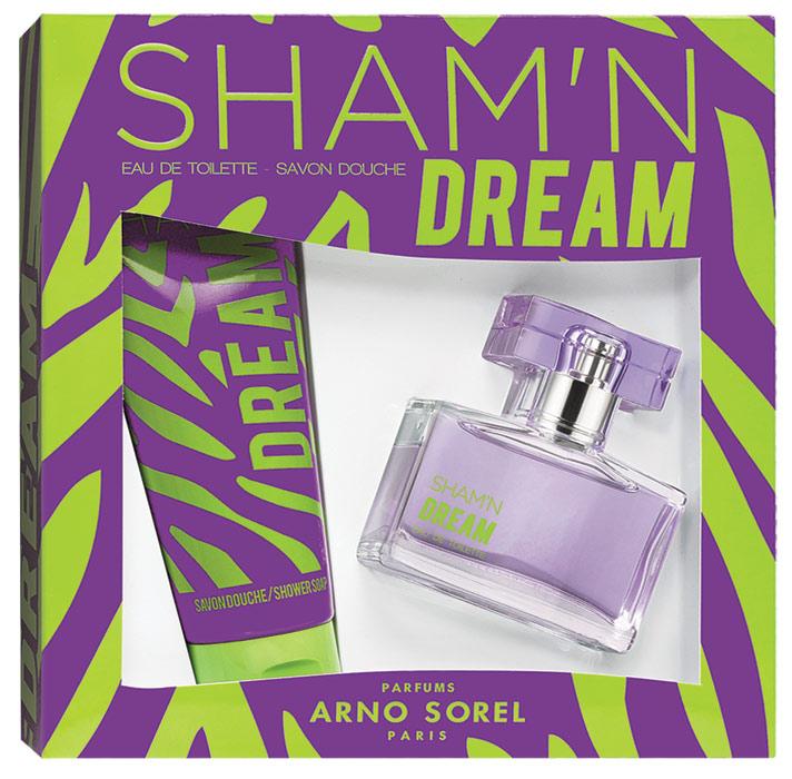 Corania Подарочный набор Sham'n Dream женский : Туалетная вода, 50мл, гель для душа 100млFS-00103Подарочный набор для женщин : туалетная вода 50мл, парфюмированный гель для душа 100 мл.Аромат: Свежий, цветочный