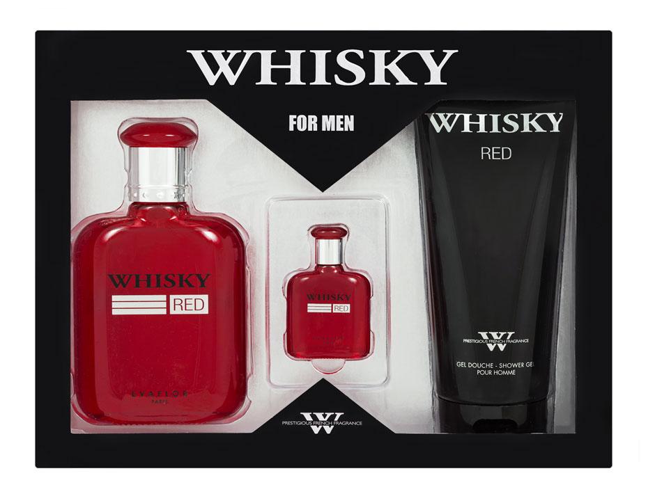 Evaflor Подарочный набор Whisky Red мужской: Туалетная вода 100мл, миниатюра 7,5мл, гель для душа 200млБ33041Подарочный набор для мужчин : туалетная вода 100мл, миниатюра туалетной воды 7,5мл, парфюмированный гель для душа 200мл.Аромат: Пряный, фужерный