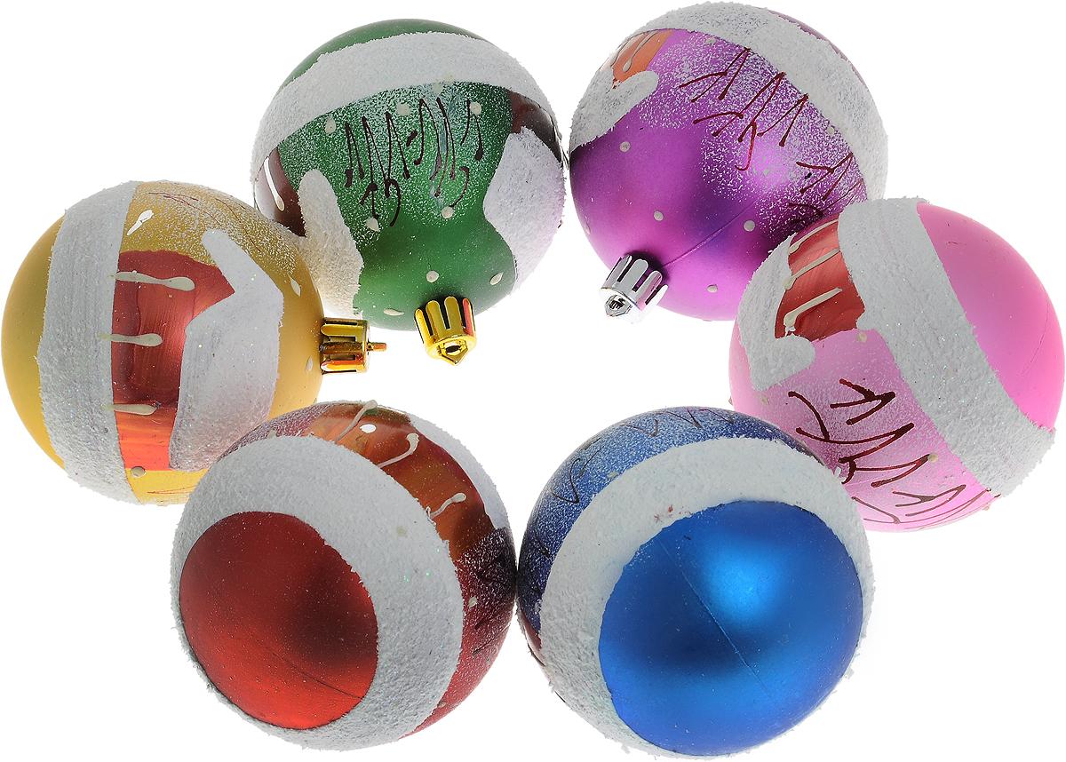 Набор новогодних подвесных украшений Winter Wings Шар. Новый год, диаметр 7 см, 6 штN180076Набор подвесных украшений Winter Wings Шар. Новый год прекрасно подойдет для праздничного декора новогодней ели. Набор состоит из 6 пластиковых украшений в виде шаров. Для удобного размещения на елке для каждого украшения предусмотрено петелька. Елочная игрушка - символ Нового года. Она несет в себе волшебство и красоту праздника. Создайте в своем доме атмосферу веселья и радости, украшая новогоднюю елку нарядными игрушками, которые будут из года в год накапливать теплоту воспоминаний. Откройте для себя удивительный мир сказок и грез. Почувствуйте волшебные минуты ожидания праздника, создайте новогоднее настроение вашим дорогим и близким.
