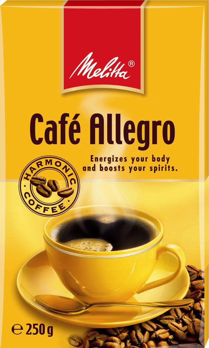 Melitta Allegro кофе молотый, 250 г00285Крепкий и бодрящий кофе, насыщенный вкус и аромат. Особо тонкий помол идеален для турки, подходит для любого способа приготовления, в том числе для кофеварок и кофемашин.