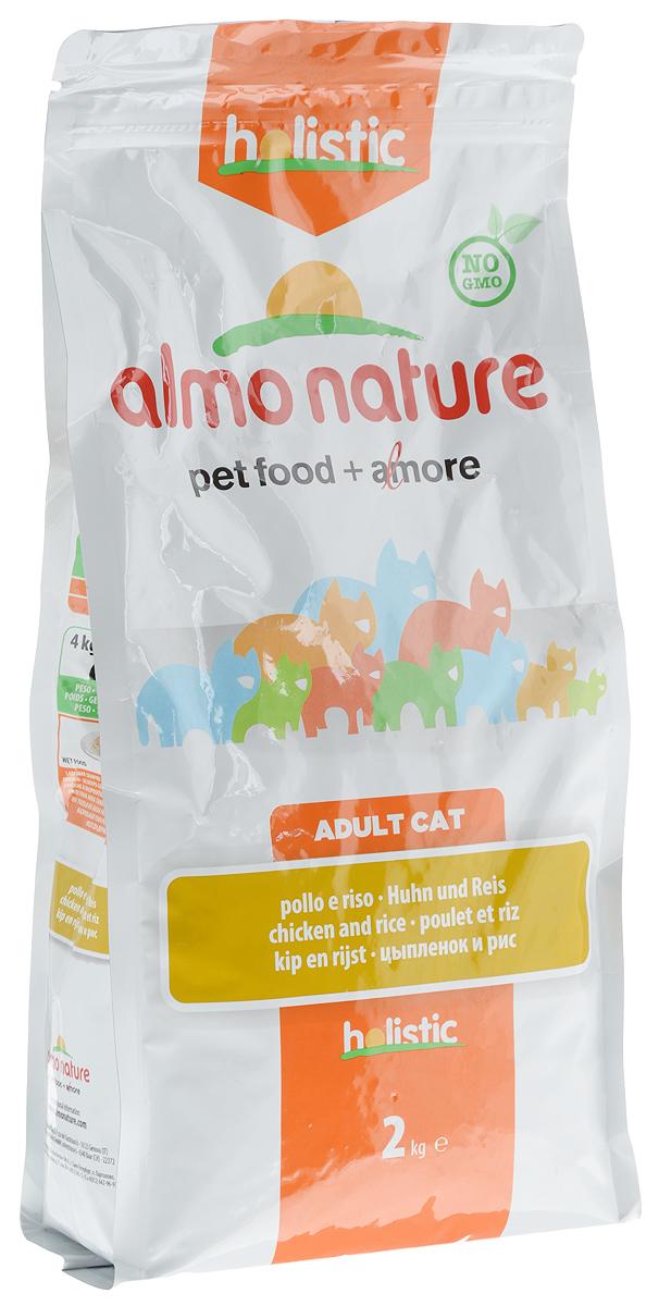 """Корм сухой """"Almo Nature"""" для взрослых кошек, с цыпленком и рисом, 2 кг 22589"""