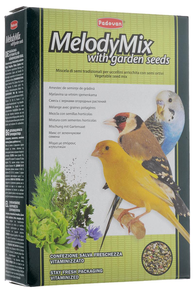 Корм Padovan MelodyMix для зерноядных птиц, 300 г16798Padovan MelodyMix - дополнительный корм для канареек, маленьких попугаев, маленьких экзотических птиц, щеглов, зябликов, воробьев и других зерноядных птиц. Смесь луговых и дикорастущих семян, обладающая высокими стимулирующими свойствами, восстанавливает, укрепляет и очищает дыхательную систему - пение становиться более ярким, насыщенным и звонким. Товар сертифицирован.