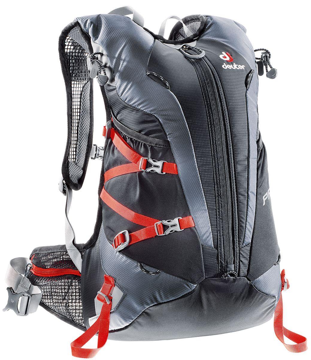 Рюкзак спортивный Deuter Pace, цвет: черный, серый, 20 лK50K502217_313Уменьшение веса равно уменьшению усилий. Вот почему команда дизайнеров Pace следует лозунгу Вы это едва чувствуете. Легкие крылья пояса анатомической формы и лямки из сетчатой ткани обеспечивают легкую подгонку. Особенности: 3М отражатели спереди и сзади; Боковые карманы; Крепления для кошек и ледоруба; Карман для ценных вещей; Совместимо с гидросистемой; Крепление для лыж; Карман-клапан для перчаток, шлема; Вес: 630 г. Размеры: 48 х 28 х 20 см. Объем: 20 л.