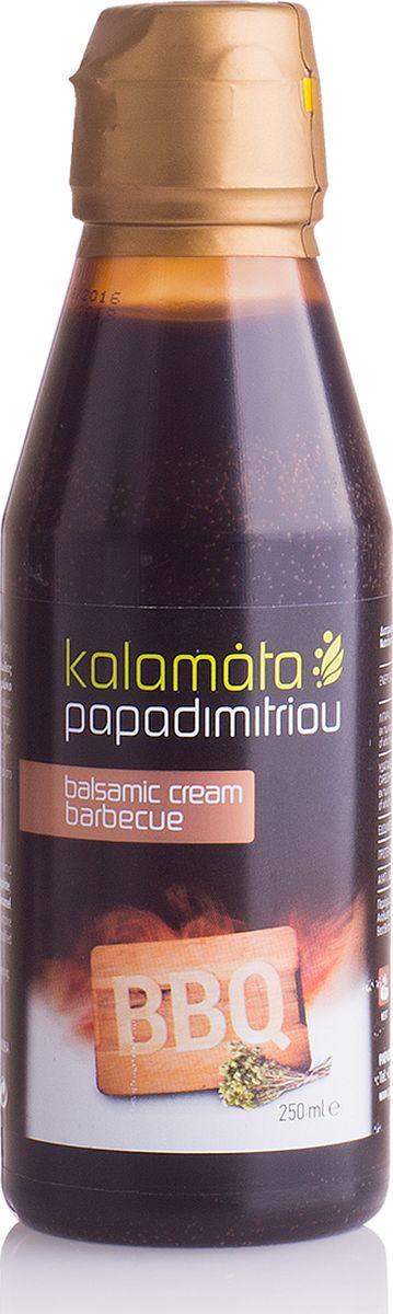 Papadimitriou бальзамический соус барбекю, 250 мл12.0022Бальзамический кремовый соус Каламата Пападимитриу с ароматом дымка придаст новый вкус сыру, жареному мясу (телятине, говядине, свинине, курице), мясу на гриле, пицце, жареному картофелю, бутербродам, ризотто.