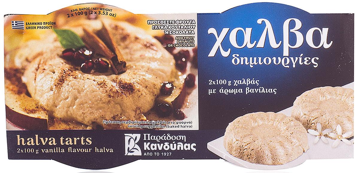 Kandylas халва ваниль, 2 шт по 100 г0120710Греческие сладости - халва кунжутная с ванилью.