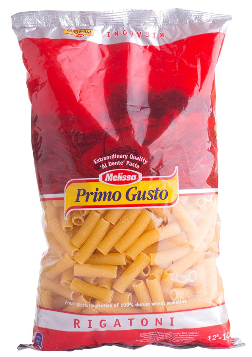 Melissa-Primo Gusto паста Ригатони трубочки, 500 г14.0005Макаронные изделия Melissa Primo Gusto производятся исключительно из семолины - муки твердых сортов пшеницы специального (грубого) помола. Семолина используется для приготовления пасты, каши, пудингов и кускуса.