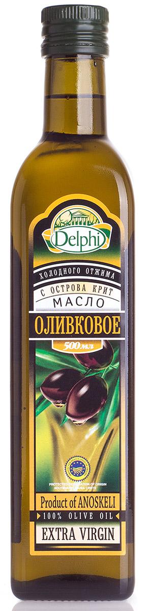 Delphi Оливковое масло с острова Крит, 500 мл0120710Оливковое масло является источником витамина Е и антиоксидантов, в нем содержится линолевая кислота, которая способствует выведению холестерина из организма. Кроме полезных свойств, натуральное оливковое масло обладает приятным вкусом, обогащающим любые блюда.