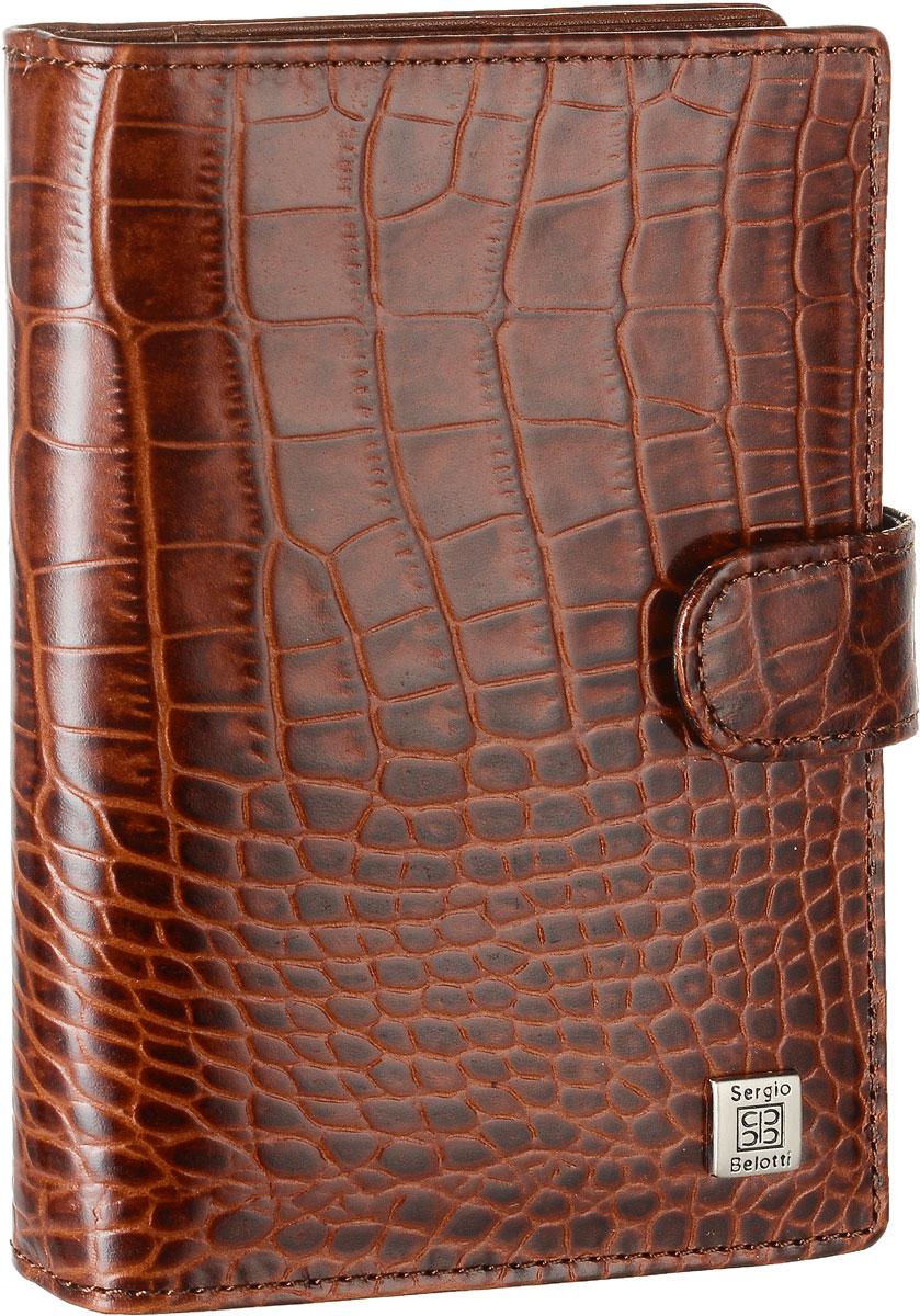 Обложка для документов Sergio Belotti, цвет: коричневый. 2706 2706 modena cognac