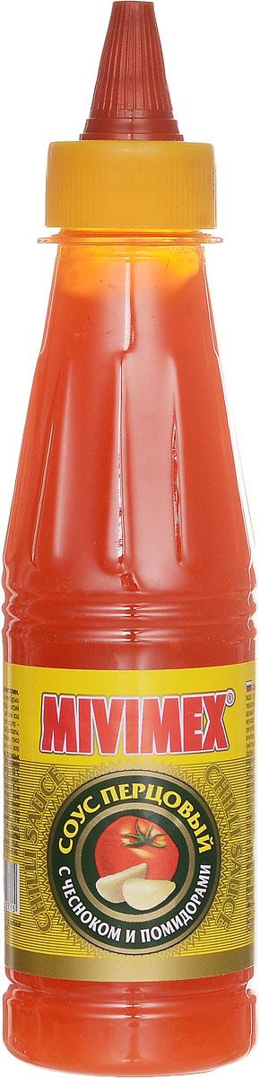 Mivimex Соус чили Перцовый с чесноком и помидорами, 200 г4607160452715Соус перцовый с чесноком и помидорами Mivimex рекомендуется использовать в качестве соуса для мясных и рыбных блюд, приправы к птице и морепродуктам, салатам и гарнирам.