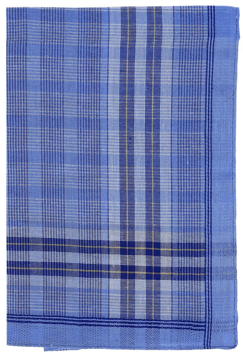 Платок носовой мужской Zlata Korunka, цвет: темно-голубой. 45495. Размер 27 х 27 см39864|Серьги с подвескамиМужской носовой платой Zlata Korunka изготовлен из натурального хлопка, приятен в использовании, хорошо стирается, материал не садится и отлично впитывает влагу. Оформлена модель принтом в полоску.