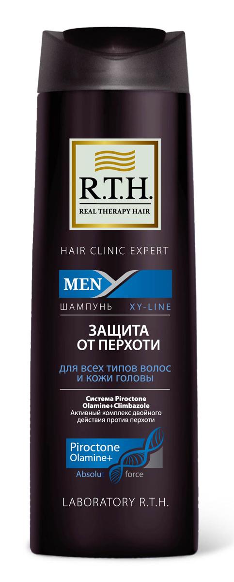 Шампунь R.T.H. Men Защита от перхоти4605845001470Предназначен для чувствительной кожи головы и волос, подверженных появлению перхоти. Содержит Гликолевую кислоту, которая оказывает эффект деликатного пилинга, благодаря очищению волос и кожи головы от омертвевших чешуек кожи. Шампунь от перхоти содержит двойной комплекс активных компонентов, таких как синергетически подобранная смесь изпротивоперхотных препаратов: Пироктоноламина и Климбазола. Шампунь не только устраняет перхоть, но и предотвращает еепоявление.