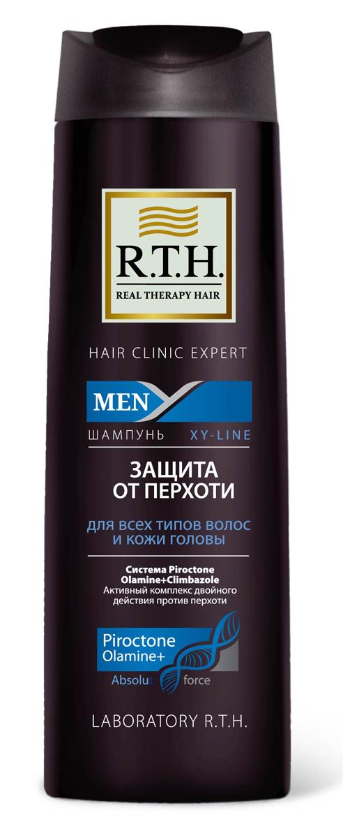 Шампунь R.T.H. Men Защита от перхоти4604903000189Предназначен для чувствительной кожи головы и волос, подверженных появлению перхоти. Содержит Гликолевую кислоту, которая оказывает эффект деликатного пилинга, благодаря очищению волос и кожи головы от омертвевших чешуек кожи. Шампунь от перхоти содержит двойной комплекс активных компонентов, таких как синергетически подобранная смесь из противоперхотных препаратов: Пироктоноламина и Климбазола. Шампунь не только устраняет перхоть, но и предотвращает ее появление.