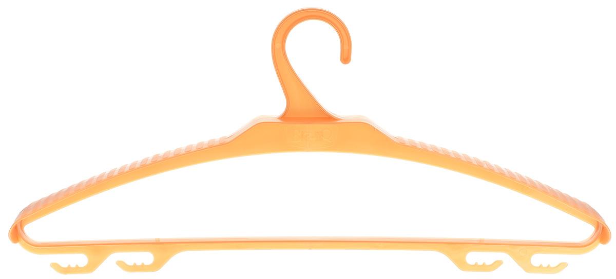 Вешалка-плечики для верхней одежды BranQ, цвет: золотой, размер 52-54UP210DFВешалка BranQ выполнена из полипропилена. Изделие имеет 4крючка. Вешалка - это незаменимая вещь для того, чтобы ваша одежда всегда оставалась в хорошем состоянии. Размер одежды: 52-54.