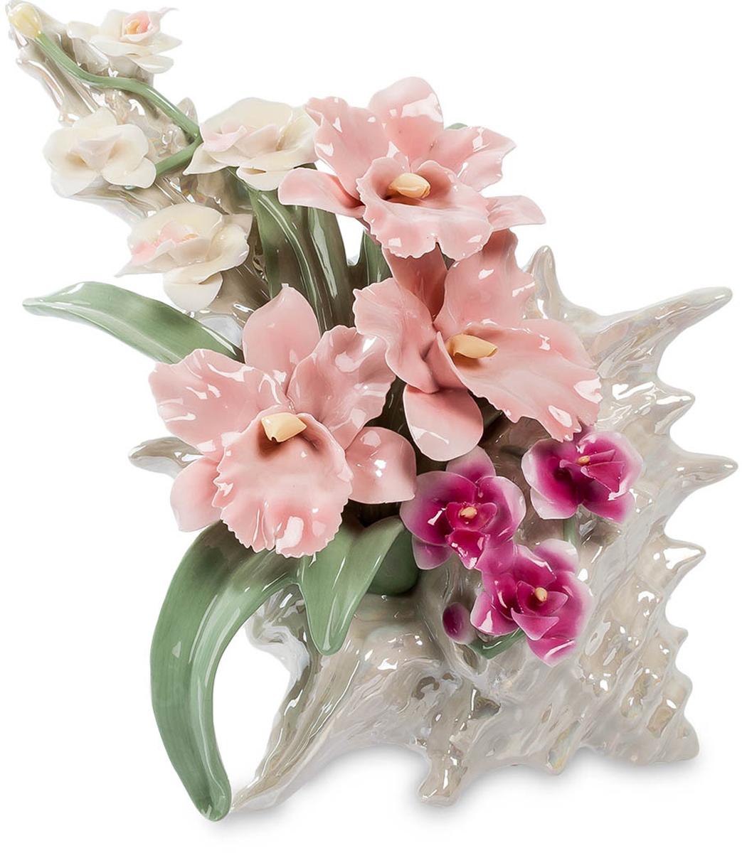 Музыкальная композиция Pavone Ракушка с цветами. CMS-33/ 1UP210DFМузыкальная композиция Ракушка с цветами (Pavone)Причудливой формы раковина из далеких тропических морей и сама по себе достойна восхищения, но ее использовали как основу для размещения ней цветочной композиции, лаконичной и удивительно красивой. Белые, розовые и малиновые цветы, зеленые листья – все это выполнено из тончайшего фарфора и радует взгляд не хуже живых цветов. Красота каждого цветка находит отклик в красоте творения морских глубин, создавая удивительное впечатление. Так и кажется, что сейчас зазвучит прекрасная музыка. И она действительно начинает звучать: в фигурку встроен музыкальный механизм, который можно просто завести и слушать музыку.