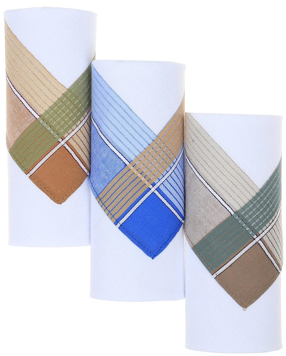 Платок носовой мужской Zlata Korunka, цвет: белый, мультиколор, 3 шт. М55С. Размер 43 х 43 смМ55СМужские носовые платки Zlata Korunka изготовлены из натурального хлопка, приятны в использовании, хорошо стираются, материал не садится и отлично впитывает влагу. В упаковке 3 штуки.