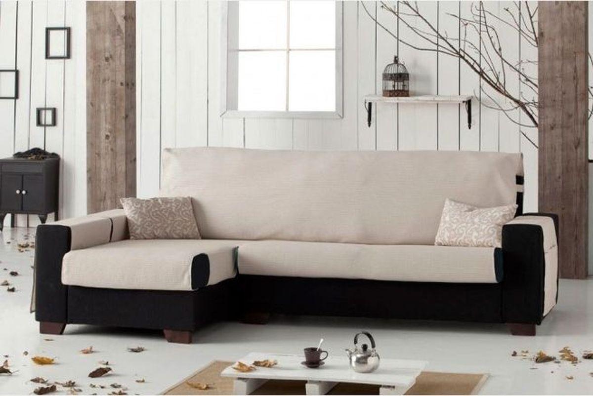 """Чехол на диван Медежда """"Иден"""", угловой, левый угол, цвет: бежевый 14050212030"""