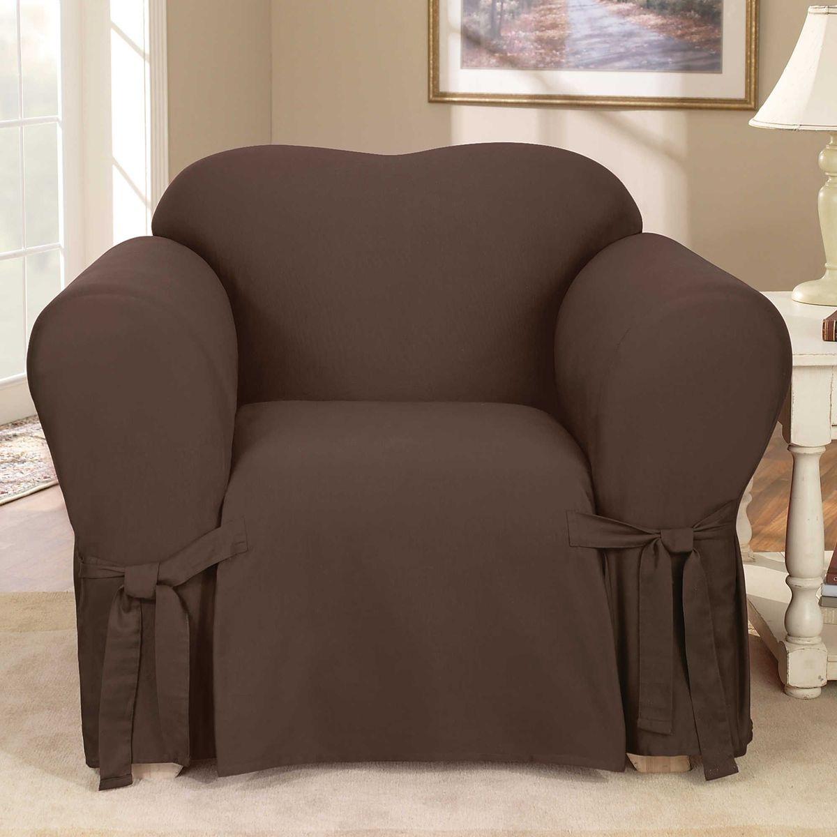 Чехол на кресло Медежда Брайтон, цвет: шоколадный1401011211000Чехол «Брайтон» легко гармонирует почти со всеми палитрами цвета и любым типом интерьера.Классический чехол из хлопка, не эластичен, но хорошо принимает форму кресла, подходит для кресел шириной спинки от 80 до 110 см.