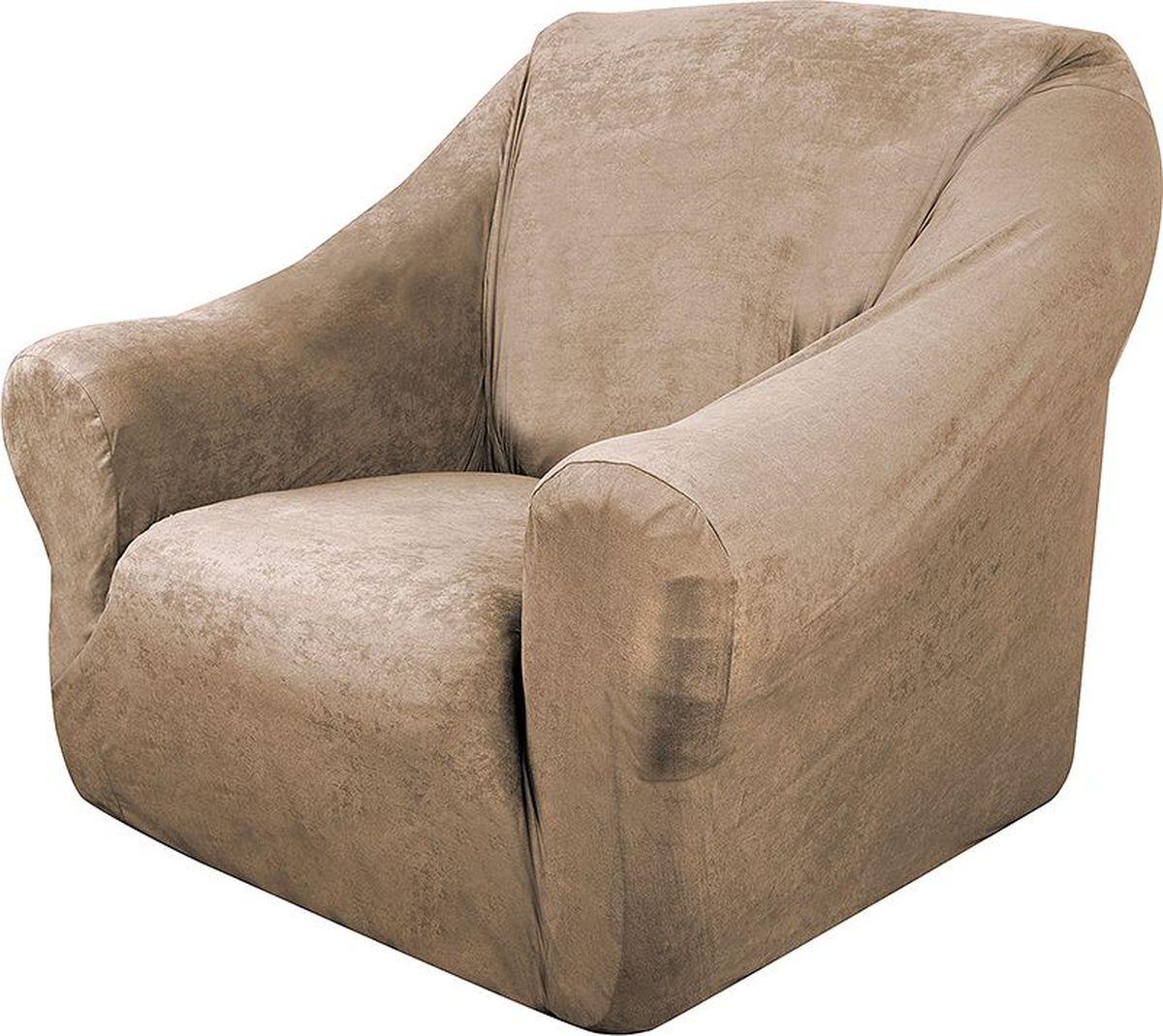 Чехол на кресло Медежда Лидс, цвет: бежевый1401071103000Чехол изготовлен из искусственной замши, очень приятен на ощупь, легко растягивается и выглядит почти как новая обивка дивана, подходит для большинства стандартных диванов с шириной спинки от 85 до 105 см. Искусственная замша сочетает в себе изящество, стиль и характерные эффекты натуральной замши с прочностью, износостойкостью и фантастическими техническими характеристиками самых современных материалов.По внешнему виду современные искусственные аналоги практически неотличимы от натуральной замши, имеют максимальное визуальное сходство и создают неповторимое ощущение теплоты и пространства.