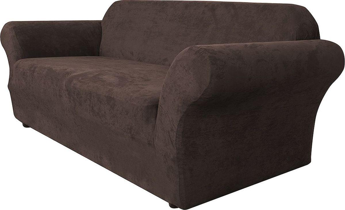 Чехол на диван Медежда Лидс, трехместный, цвет: шоколадный1403071111000Чехол изготовлен из искусственной замши, очень приятен на ощупь, легко растягивается и выглядит почти как новая обивка дивана, подходит для большинства стандартных диванов с шириной спинки от 185 до 235 см. Искусственная замша сочетает в себе изящество, стиль и характерные эффекты натуральной замши с прочностью, износостойкостью и фантастическими техническими характеристиками самых современных материалов.По внешнему виду современные искусственные аналоги практически неотличимы от натуральной замши, имеют максимальное визуальное сходство и создают неповторимое ощущение теплоты и пространства.