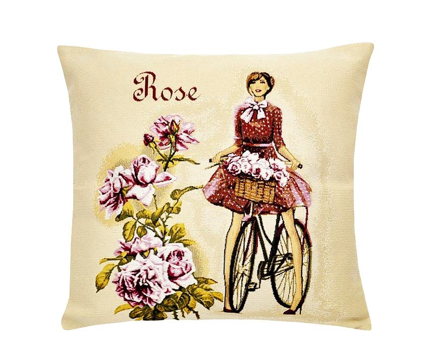 Подушка декоративная Рапира Леди роза, 45 х 45 см96515412Декоративная подушка с наполнителем холлофайбер со съёмным чехлом на молнии, выполненным из жаккарда, - это яркий штрих в интерьере комнаты. Лицевая сторона - гобелен (жаккардовое ткачество), оборотная сторона -однотонная ткань типа плюш.