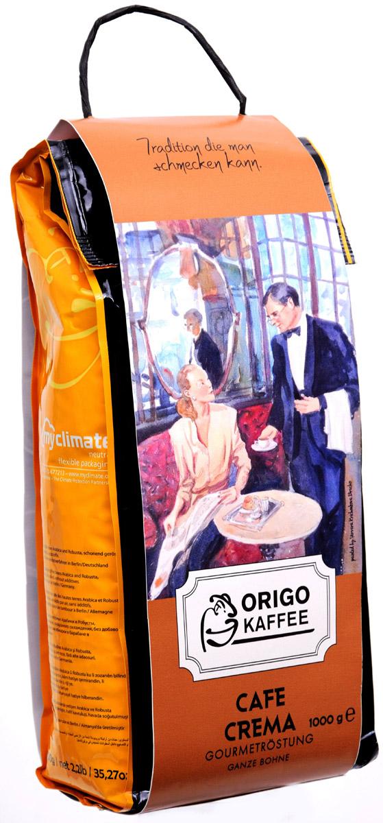 ORIGO Cafe Crema кофе в зернах, 1 кг3004001000Используя нежнейшие сорта высокогорной Арабики и высококачественную мытую Робусту, был получен отличный бленд с устойчивой пенкой крема, универсально подходящий как для эспрессо и американо, так и для приготовления капучино и латте. Cafe Crema обладает бархатистым ореховым вкусом и нежным послевкусием горького шоколада.