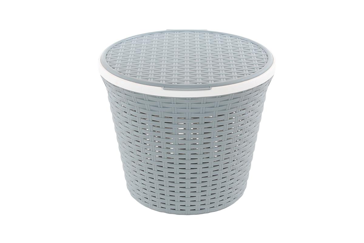 Корзина для хранения Violet Ротанг, с крышкой, 33 х 33 х 27 см. 810253810253Корзина для хранения круглая с крышкой, имитирущая плетение ротанг. Удобная, вместительная, впишется в любой интерьер.