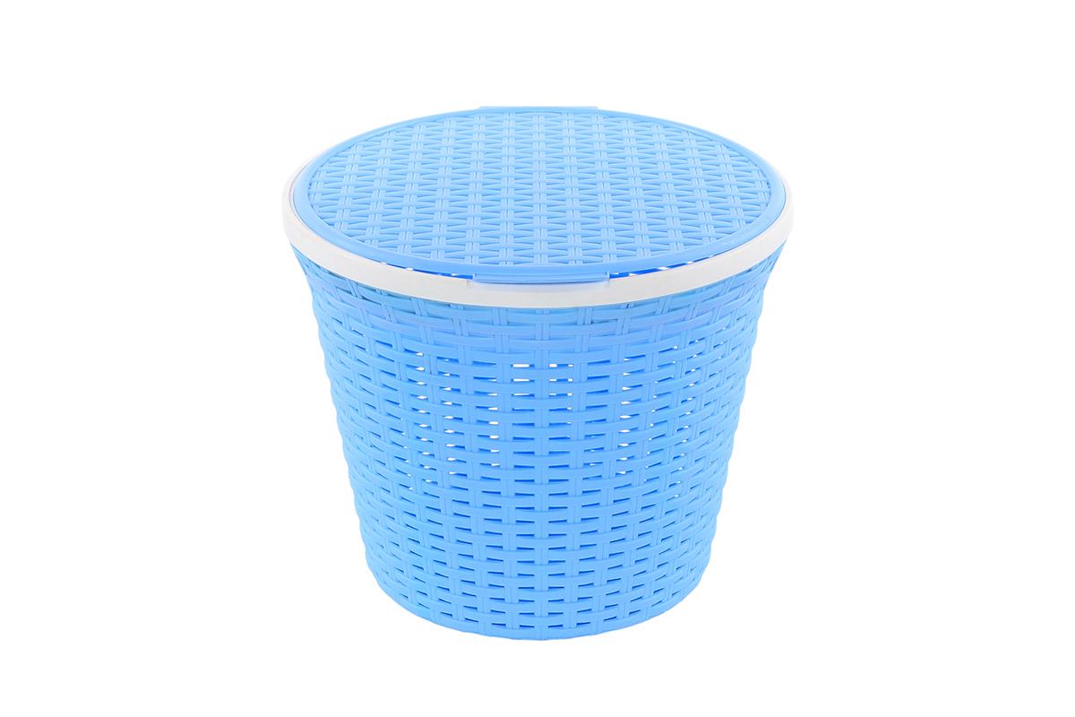 Корзина для хранения Violet Ротанг, с крышкой, 33 х 33 х 27 см. 810535810535Корзина для хранения круглая с крышкой, имитирущая плетение ротанг. Удобная, вместительная, впишется в любой интерьер.