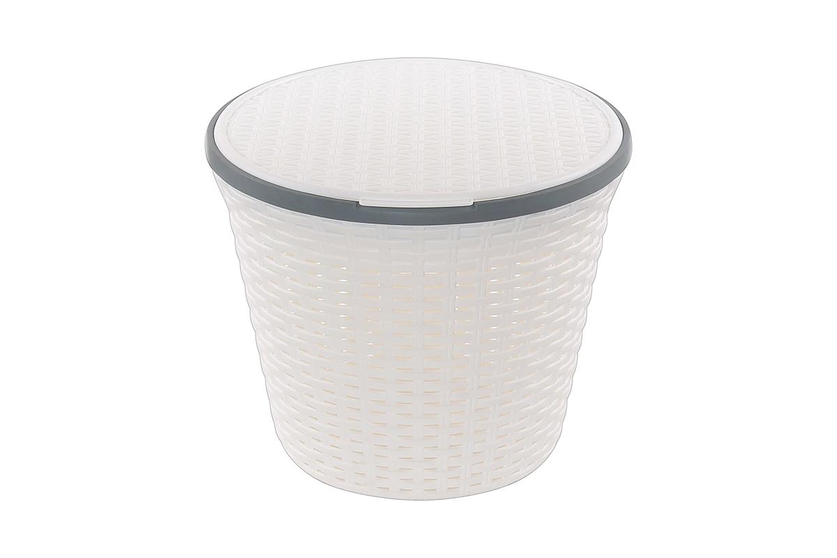 Корзина для хранения Violet Ротанг, с крышкой, 33 х 33 х 27 см. 810536810536Корзина для хранения круглая с крышкой, имитирущая плетение ротанг. Удобная, вместительная, впишется в любой интерьер.
