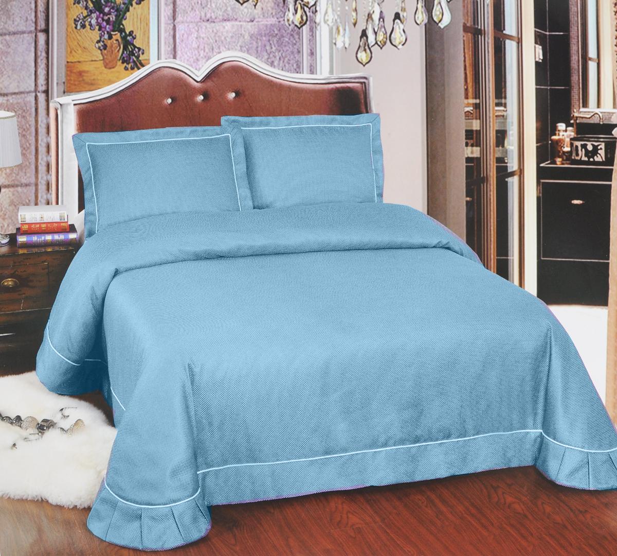 Комплект для спальни Arya Girona: покрывало 250 х 260 см, 2 наволочки 50 х 70 см, цвет: голубойTR1001106_голубойИзысканный комплект для спальни Arya Girona состоит из покрывала и двух наволочек. Изделия выполнены из высококачественного полиэстера, легкие, прочные и износостойкие. Ткань матовая, что придает ей очень большое сходство с хлопком. Комплект Arya Girona - это отличный способ придать спальне уют и комфорт. Размер покрывала: 250 х 260 см. Размер наволочки: 50 х 70 см.